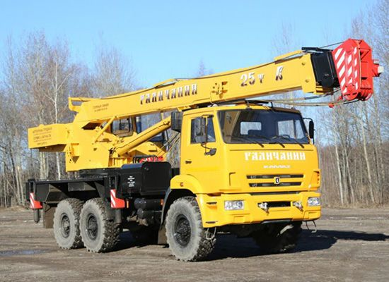 Автокран Галичанин 25 тонн на базе КамАЗ