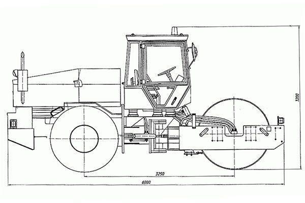 Конструкционная схема катка ДУ-85