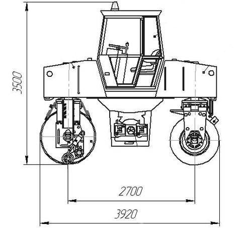 Габаритные размеры катка ДУ-98