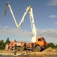 Аренда бетононасоса на шасси КАМАЗ