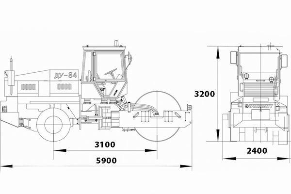 Габаритные размеры катка ДУ-84