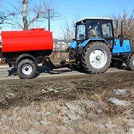 Аренда поливомоечного трактора МТЗ-82.1