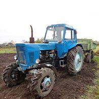 Аренда трактора МТЗ-82 с телегой