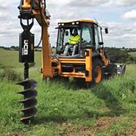 Аренда ямобура на базе трактора JCB