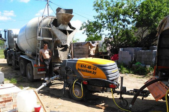 Использование мини-бетононасоса на строй площадках