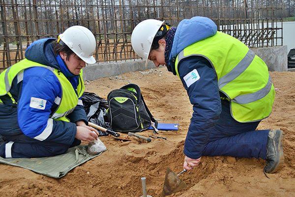 Измерение коэффициента плотности песка