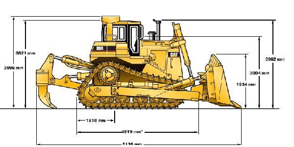 Размеры бульдозера caterpillar d9r