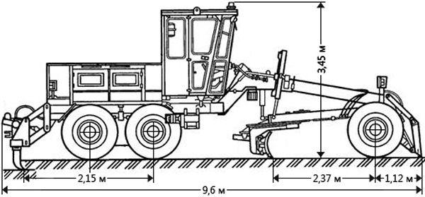 Габаритные размеры автогрейдера ДЗ-143