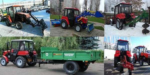 Применение трактора МТЗ-320