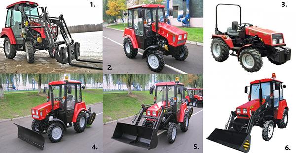 Модификации трактора МТЗ-320