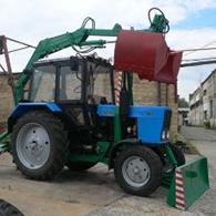 Услуги грейфена на шасси экскаватора МТЗ-80.1