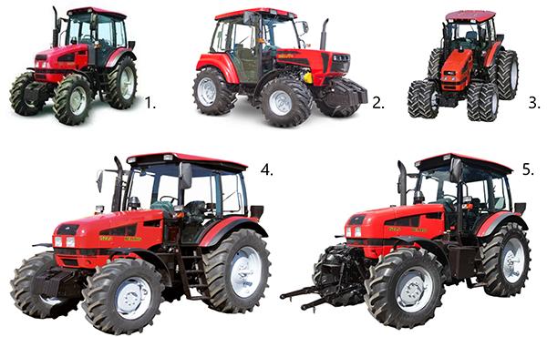 Модификации трактора МТЗ-1523