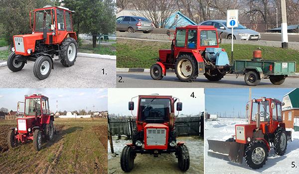 Разновидности трактора Т-30