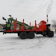 Аренда лесовоза на шасси КамАЗ-43118