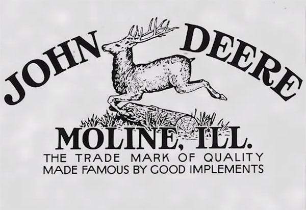 Первый торговый знак концерна John Deere с бегущим оленем