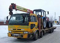 Услуги грузового эвакуатора с манипулятором в Новосибирске